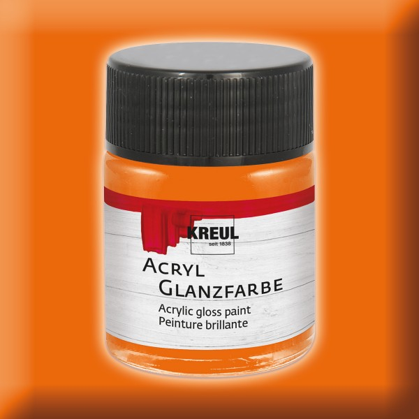 Acryl-Glanzfarbe 50ml orange