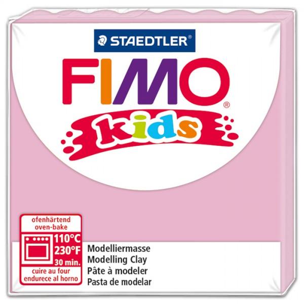FIMO kids 55x55x10mm 42g rosa ofenhärtende Modelliermasse