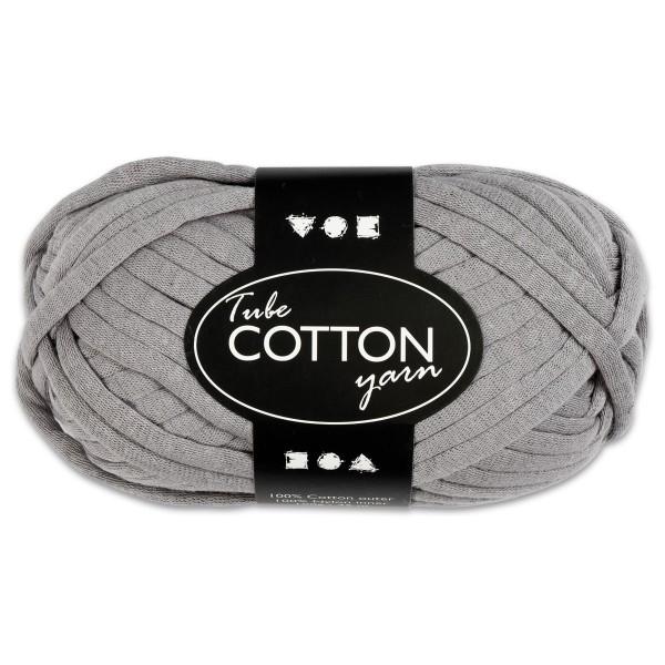 Baumwoll-Schlauchgarn 100g grau 100% Baumwollen mit Nylonfüllung, für Nadel Nr. 8-10