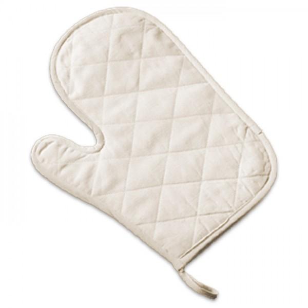 Ofenhandschuhe einseitig gesteppt ca. 18x28cm 2 St. weiß 100% Baumwolle, Füllung: 100% Polyester, 2