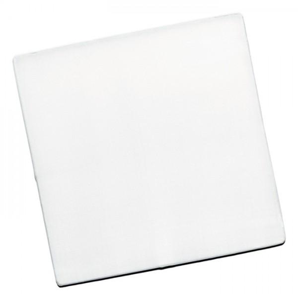 Fensterbild Seide Pongé 08 10x10cm Quadrat 100% Seide, naturweiß