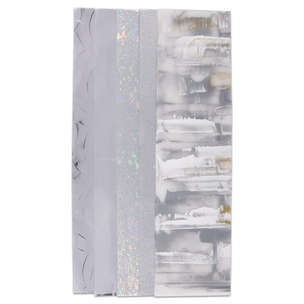 Verzierwachs-Set 5 Platten à 50x200x0,5mm Silberton