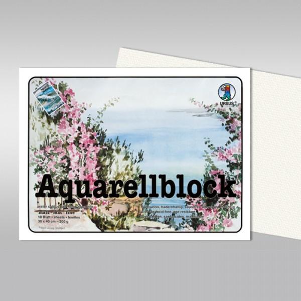 Aquarellblock 200g/m² 42x56cm 10 Bl. matt