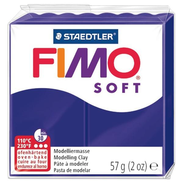 FIMO soft 55x55x15mm 57g pflaume ofenhärtende Modelliermasse