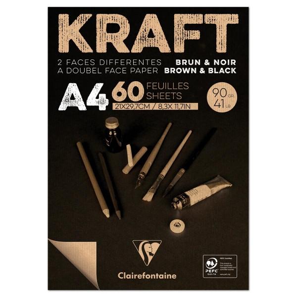 Kraftpapier DIN A4 90g/m² 100 Bl. hellbraun