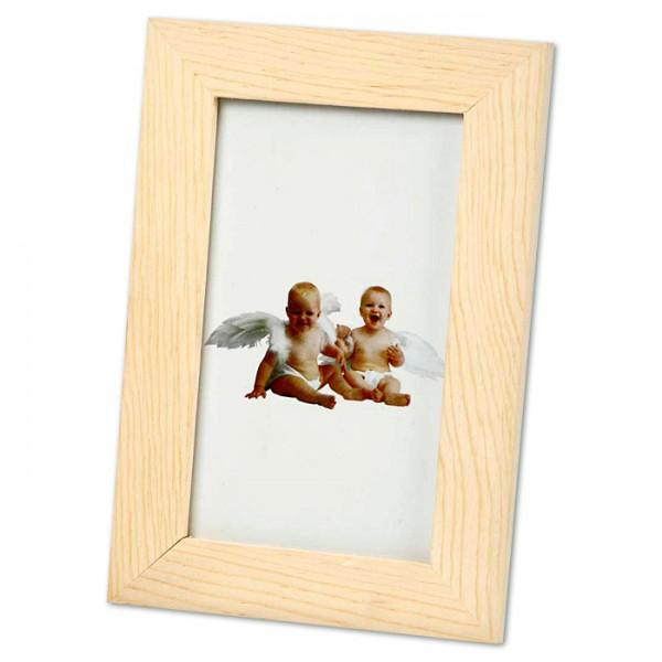 Bilderrahmen Holz/Glas 16x10,5cm natur Ausschnitt 125x75mm