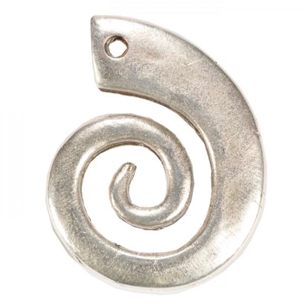 Metallanhänger Spirale 35x27mm altplatinfarben Lochgr. ca. 3mm