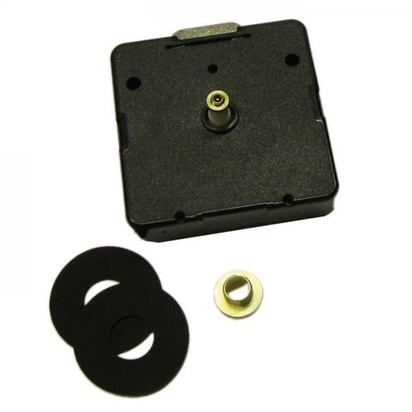 Quarzuhrwerk Kunststoff-Gehäuse 55x55x18 schwarz für Wandstärke 9-14mm