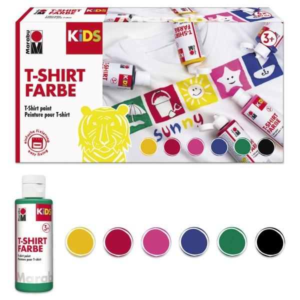 Marabu KIDS T-Shirt-Farben Set 6 Farben à 80ml