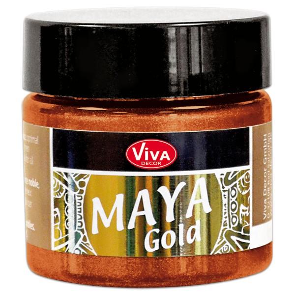 Maya-Gold Dekorfarbe flüssig 45ml orange-gold
