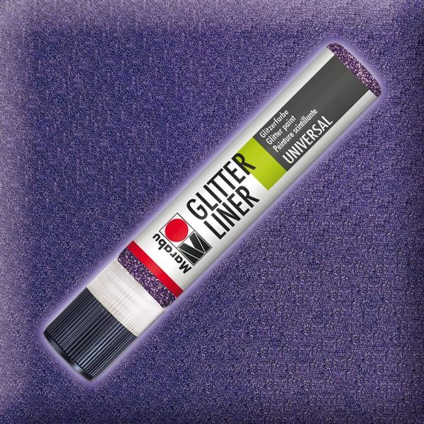 Marabu Glitter Liner 25ml amethyst universelle Effektfarbe