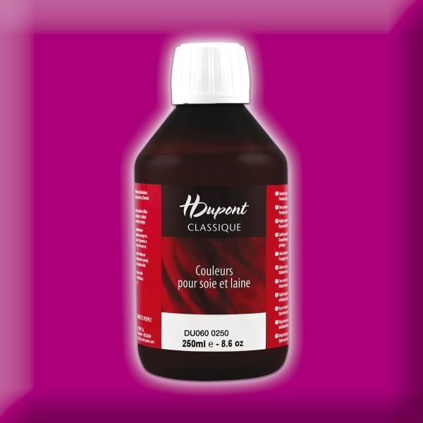 H.Dupont Classique 250ml Fuchsia Violacé/purpur Seidenmalfarbe, Dampffixierung