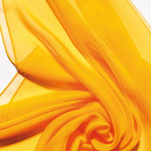 Schal Chiffon 3,5 55x180cm indisch gelb 100% Seide