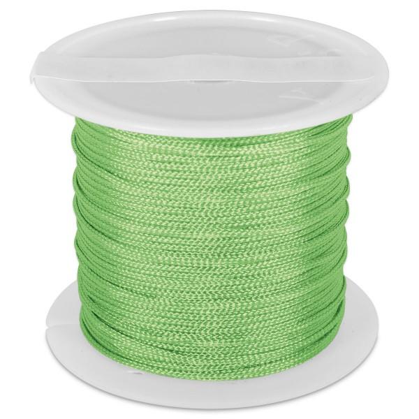 Knüpfgarn glänzend 1mm 5m neongrün 100% Polyester