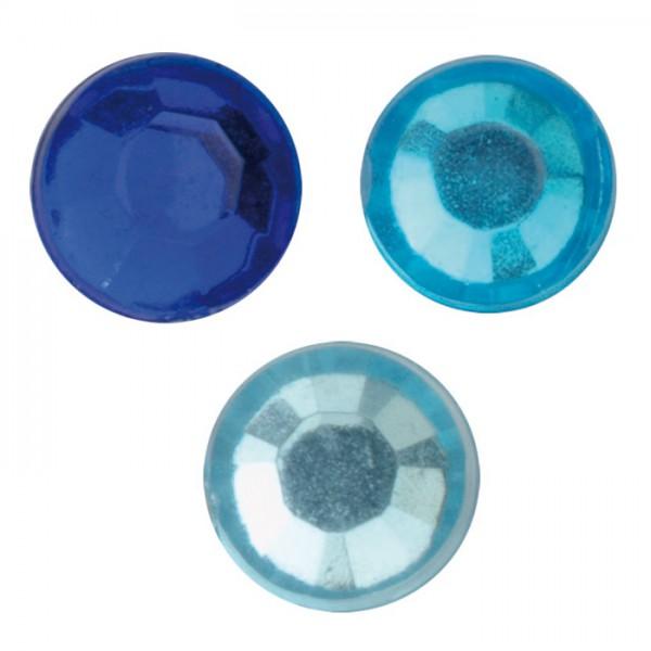 Diamant-Sticker 3 bis 4mm 88 St blautöne