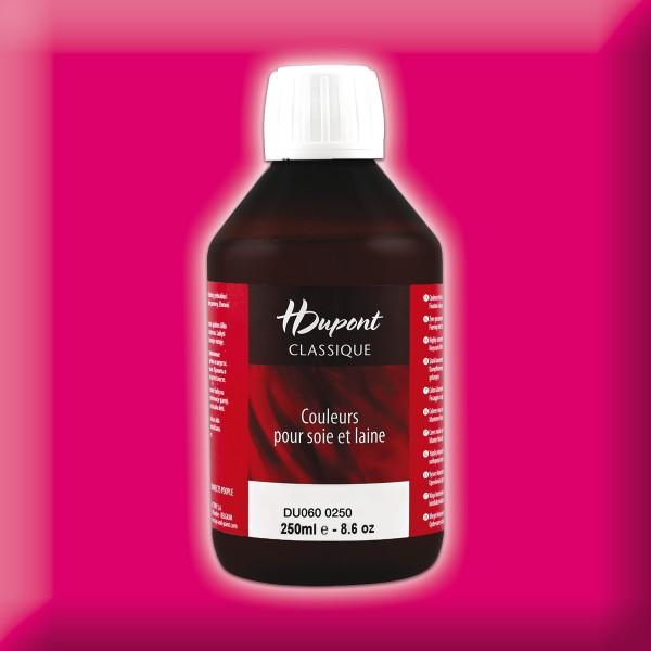 H.Dupont Classique 250ml Magenta/magenta Seidenmalfarbe, Dampffixierung