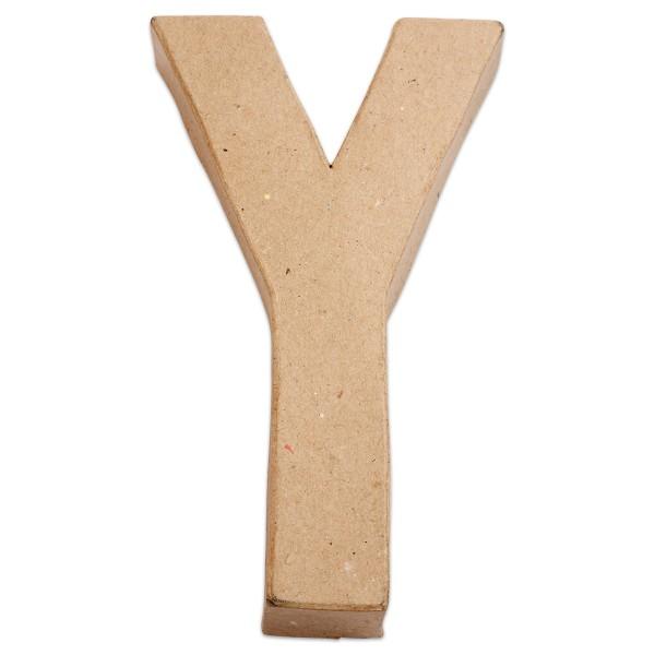 Buchstabe Y Pappmaché ca. 200hx115bx25mm