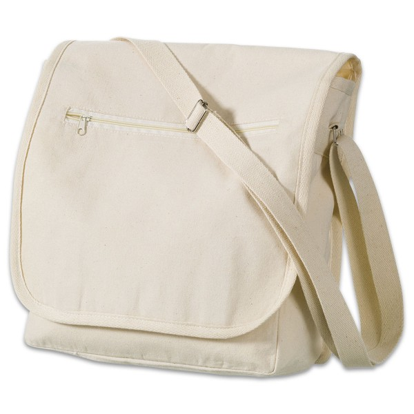 Schultertasche/Collegebag 27x29cm natur 270g/m², 100% Baumwolle