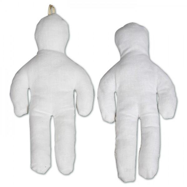 Mini-Puppe mit Wattefüllung ca. 15cm weiß 100% Baumwolle, Füllung 100% Polyester