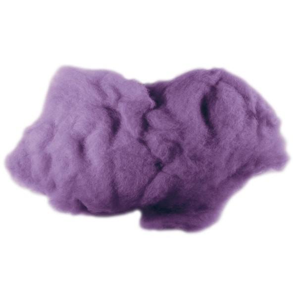 Krempelwolle max. 27mic 100g lila 100% Wolle von neuseeländischen Schafen