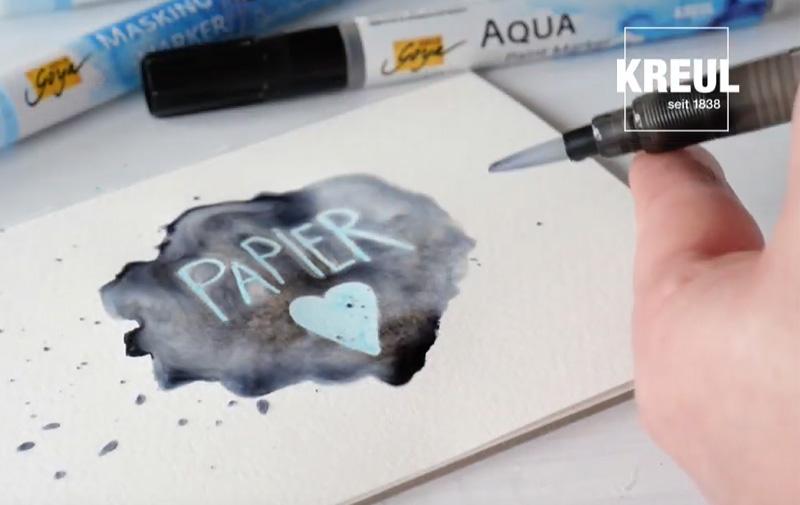 "Video ""SOLO GOYA Paint Marker mit Masking Marker"""