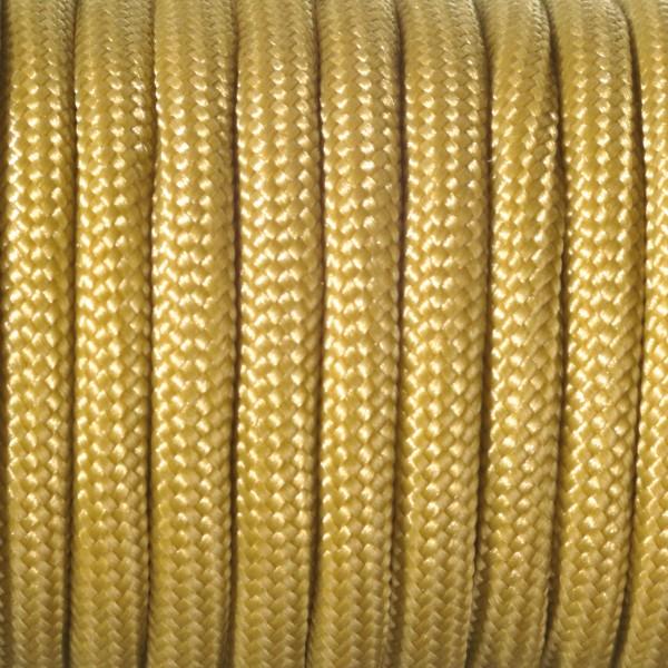 Paracord-Garn rund 4mm 50m gold Makramee-Knüpfgarn, 60% Polypropylen, 40% Polyester