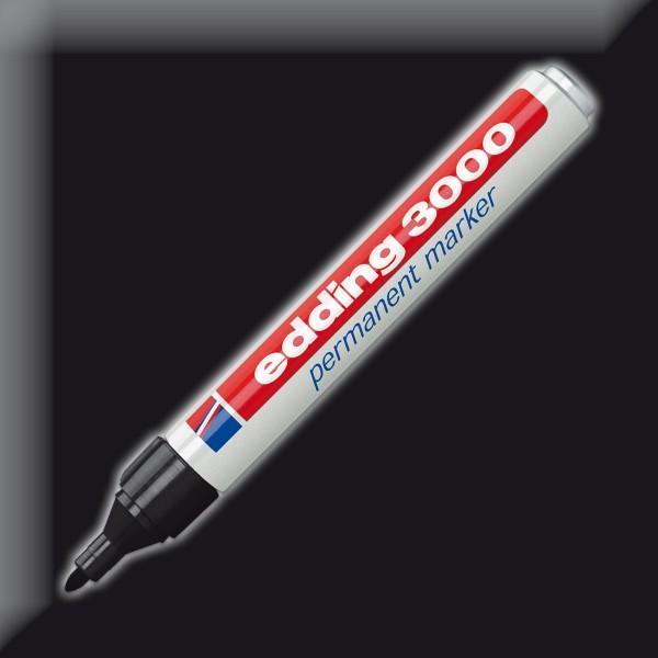 edding 3000 Permanentmarker schwarz Strichbreite 1,5-3mm
