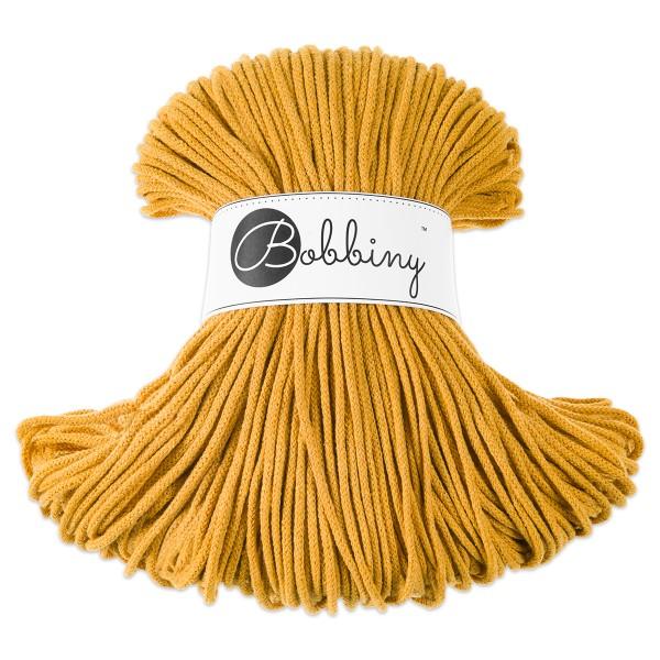 Bobbiny Rope-Garn Junior Ø3mm mustard ca. 200g-300g, 100% Baumwolle, LL 100m