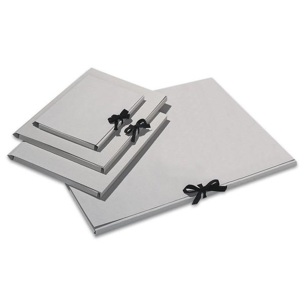 Sammelmappe mit Bindeband DIN A2 unbedruckt, Graupappe, 500g/m²