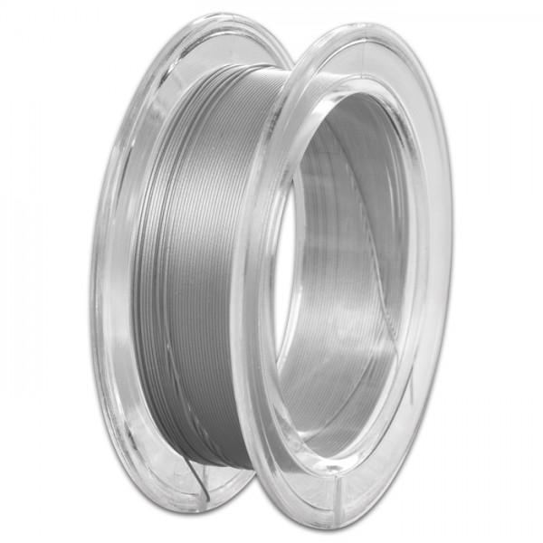 Edelstahldraht 0,5mm 10m platinfarben/clear nylonummantelt