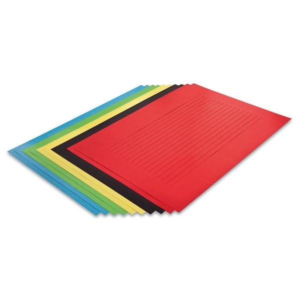 Riesenflechtblätter 35x50cm 10 Paar/5 Farben 130g/m², Schnittbreite 15mm