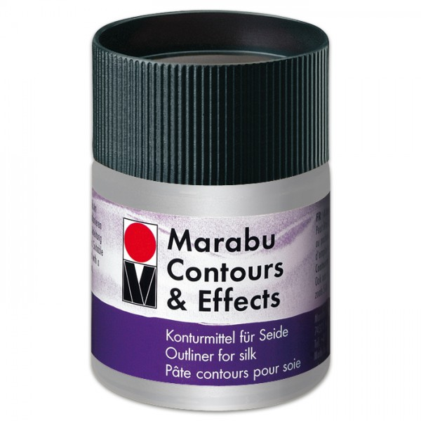 Contours & Effects 50ml metallic-silber Konturenfarbe für Seide