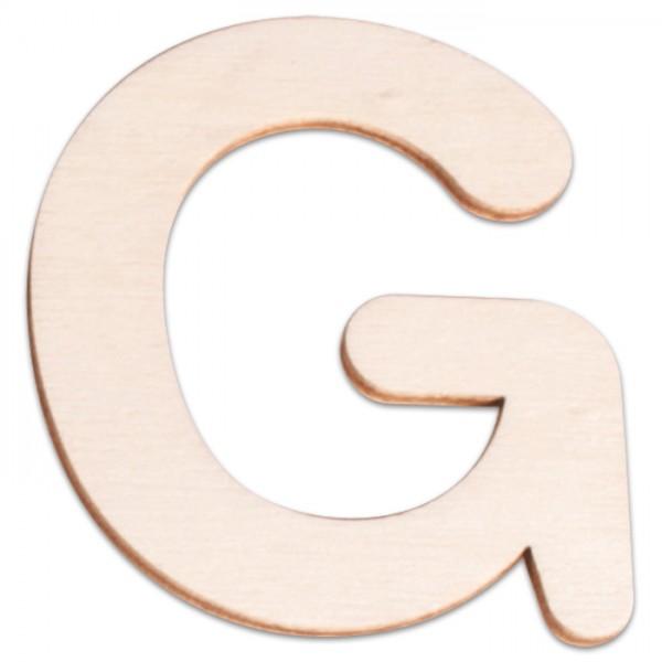 Holzbuchstabe G ca. 3mm 6cm hoch natur