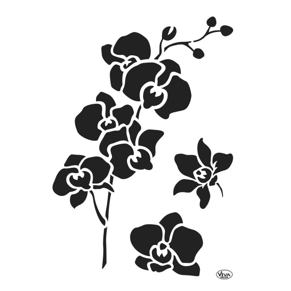 Universal-Schablone DIN A4 Orchidee Kunststoff