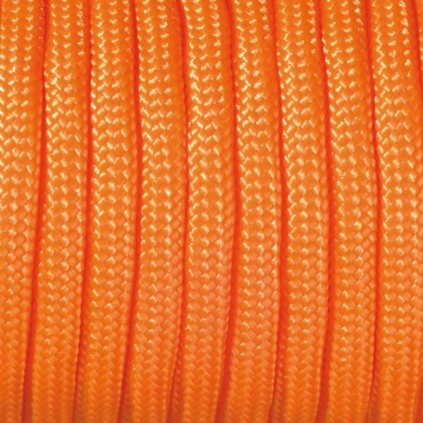 Paracord-Garn rund 4mm 50m orange Makramee-Knüpfgarn, 60% Polypropylen, 40% Polyester