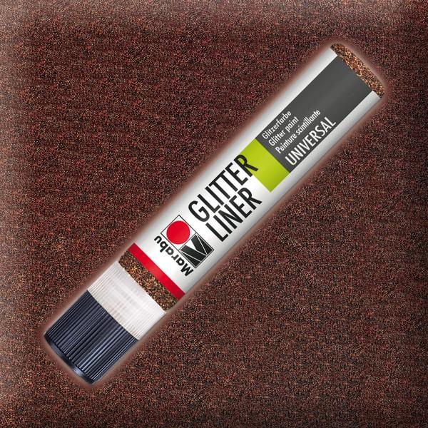 Marabu Glitter Liner 25ml espresso universelle Effektfarbe