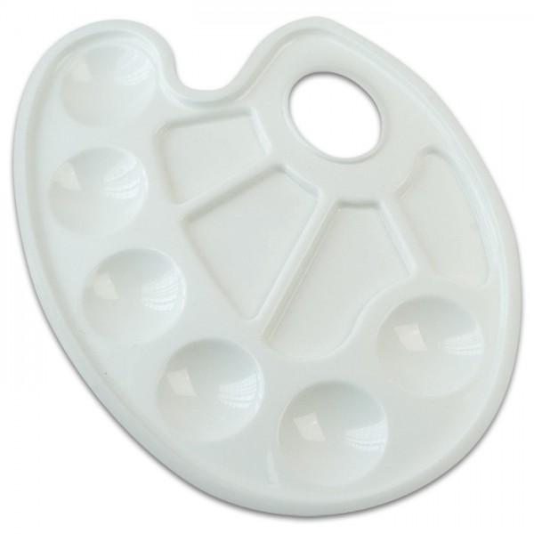 Mischpalette Kunststoff 17x24cm oval weiß
