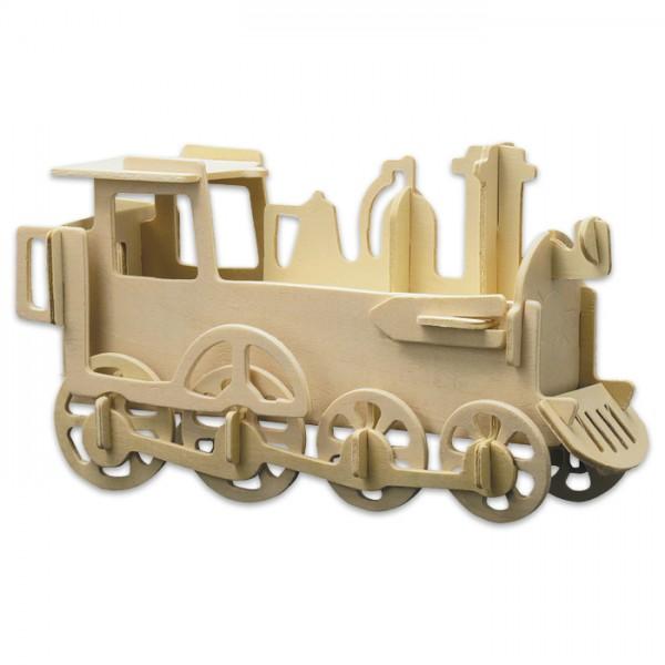 Holzbausatz Lokomotive ca. 30x15cm 30 Teile vorgestanzt, zum Zusammenstecken
