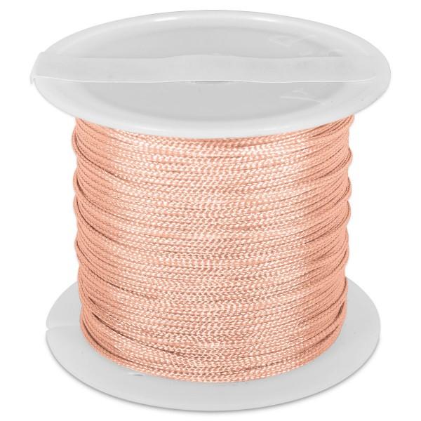 Knüpfgarn glänzend 1mm 5m lachs 100% Polyester