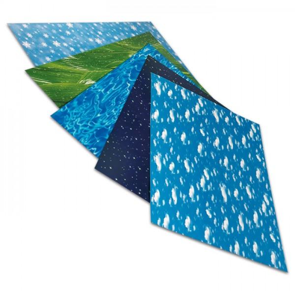 Transparentpapier 50,5x70cm 10 Bl. Elements 115g/m², 5 Motive