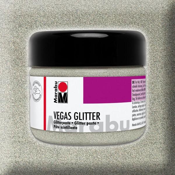 Vegas Glitter Effektpaste 225ml silber