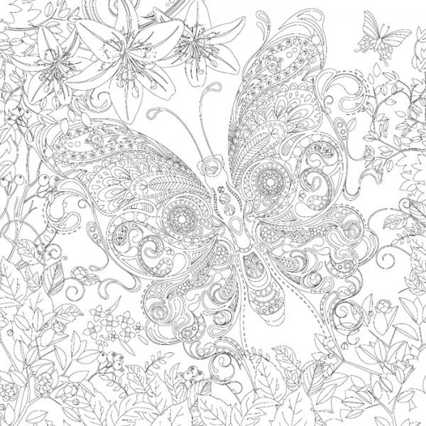 bedruckter Keilrahmen 30x30x2cm Schmetterling