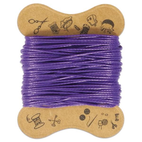 Kordel gewachst 0,5mm 10m lila 100% Baumwolle