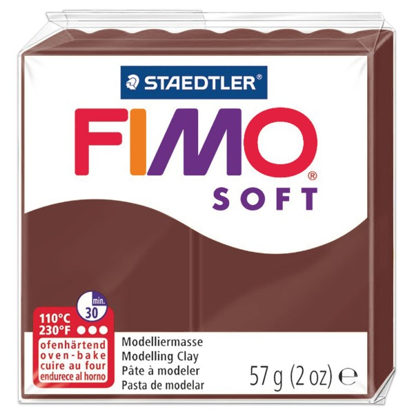 FIMO soft 55x55x15mm 57g caramel ofenhärtende Modelliermasse