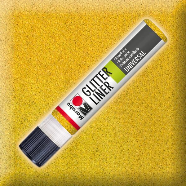 Marabu Glitter Liner 25ml gelb universelle Effektfarbe