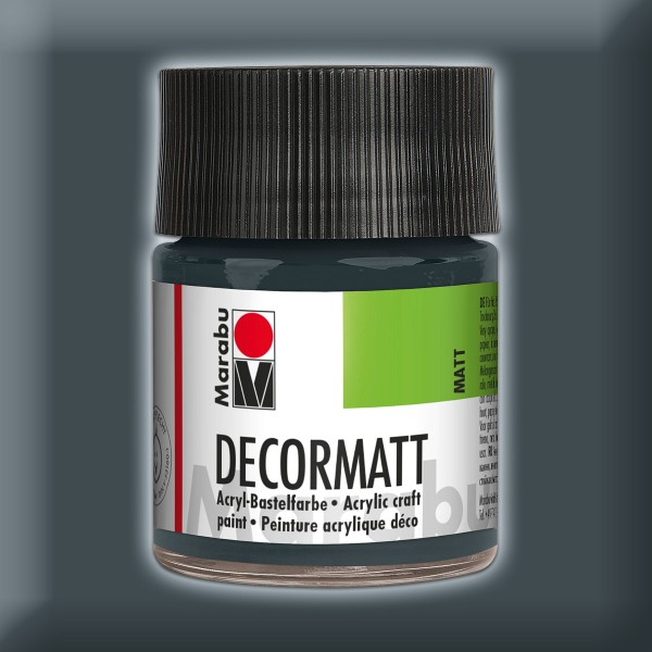 Decorlack Acryl matt 50ml dunkelgrau