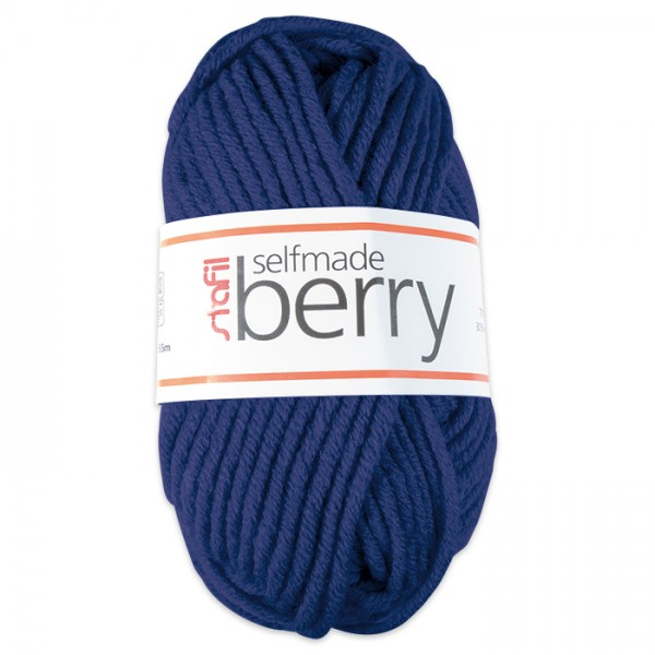 Wolle Berry 6-7mm 50g jeans 70% Polyacryl, 30% Wolle