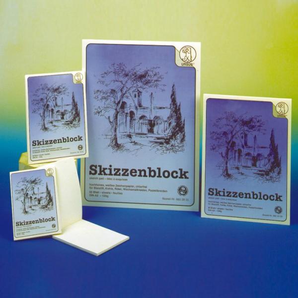 Skizzenblock 120g/m² DIN A4 50 Bl. weiß