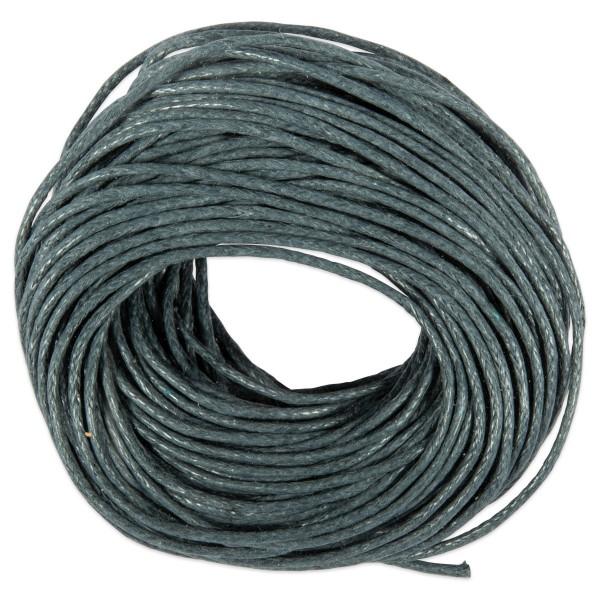 Kordel gewachst 1mm 10m grau 50% Baumwolle, 50% Polyester