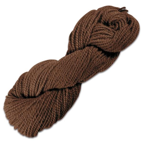 Smyrnawolle 100g kaffeebraun LL 30-32m, 100% Wolle